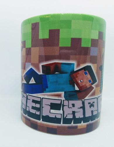 caneca em porcelana do jogo / game minecraft