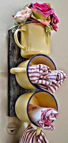 caneca esmaltada agata decoração retrô café chá - 350 ml