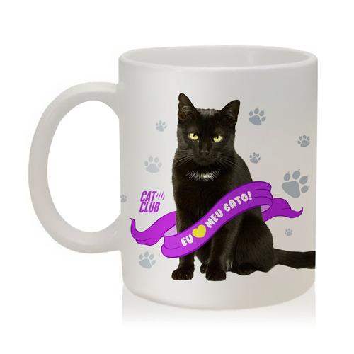 caneca eu amo meu gato preto