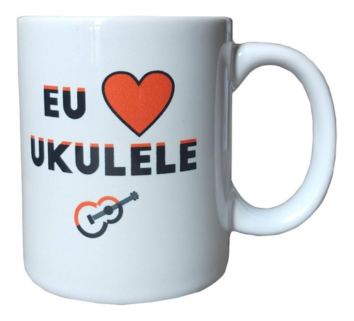 caneca eu amo ukulele