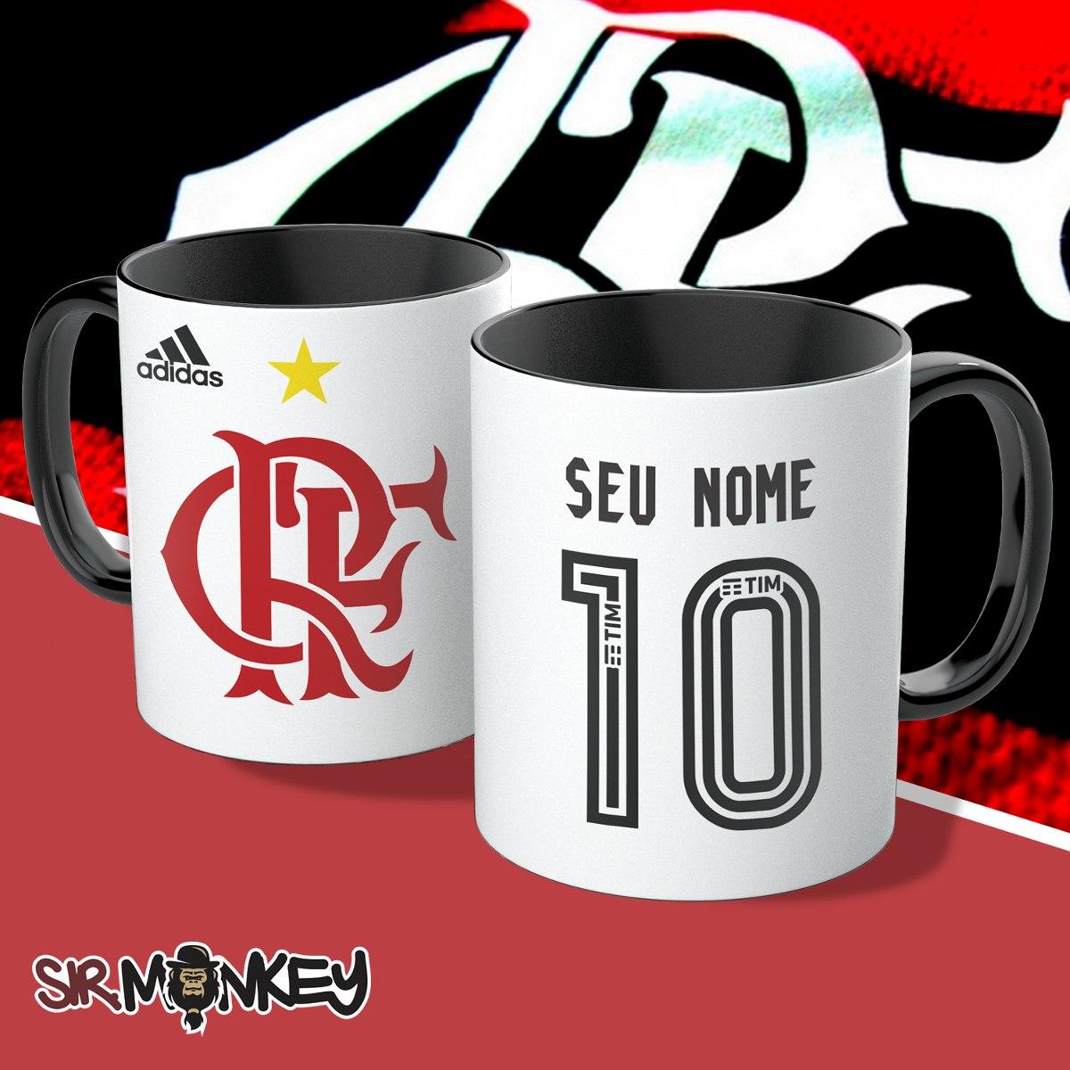 Caneca Flamengo Personalize Nome E Número - R  33 622a0dd7f3ae8