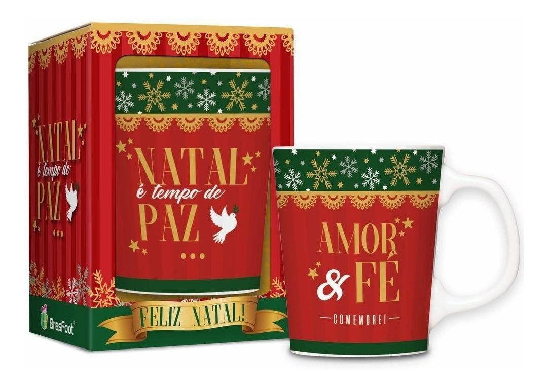 Caneca Frases Motivacionais Natal é Tempo De Paz