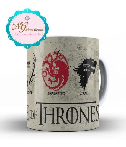 caneca game of thrones lannister stark targaryen e baratheon