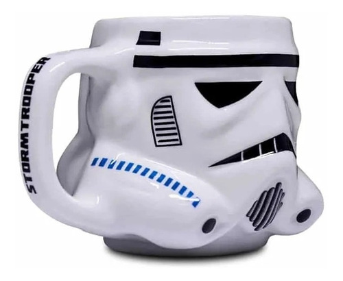 caneca geek formato 3d disney star wars stormtrooper 500ml