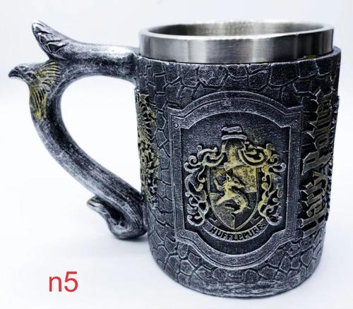 caneca harry potter hogwarts 4 casas 3d chopp