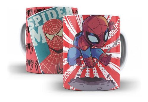 caneca homem aranha vingadores em cerâmica