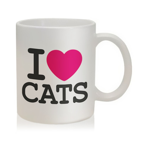 caneca i love cats