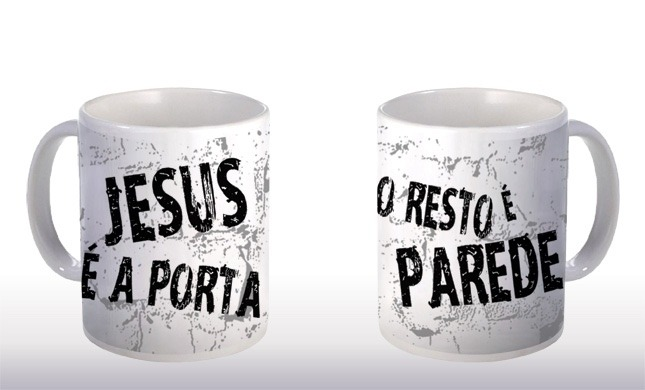 Caneca jesus a porta evang lica crist gospel 0057 r for Jesus a porta