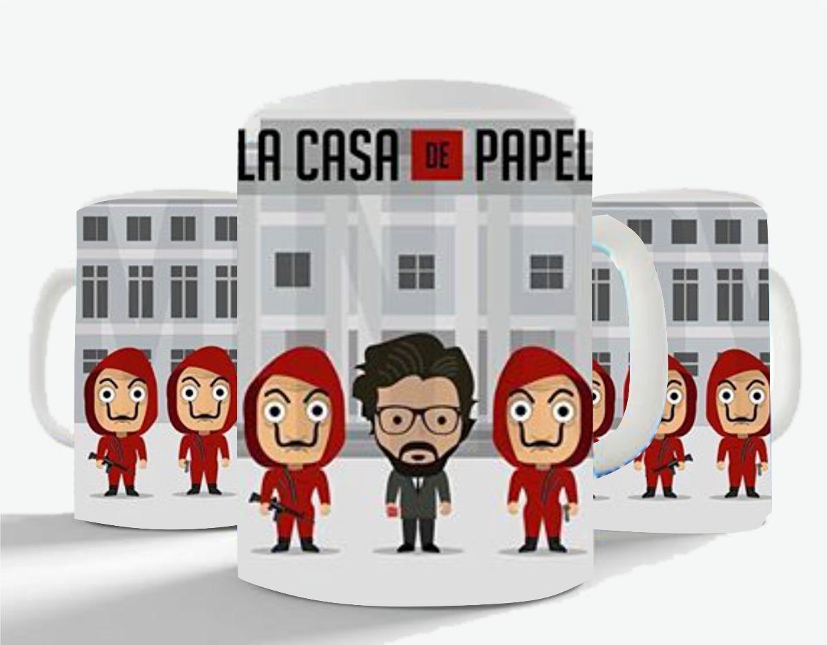 Desenhar Casas Caneca La Casa De Papel Serie Netflix Frete Gr 225 Tis R