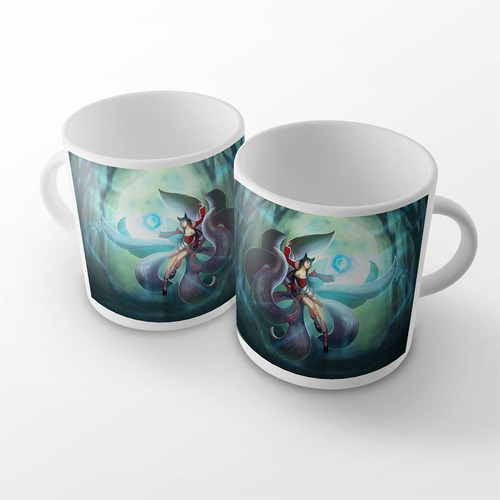 caneca league of legends ahri raposa de nove caudas mirror