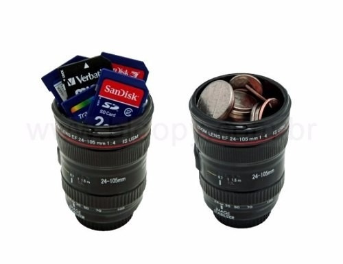 caneca lente térmica personalizada presente copo de aluminio