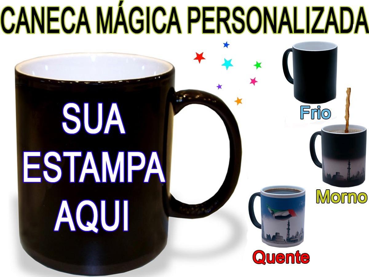 ea6455d16 Caneca Mágica Personalizada + Caixinha + Arte Grátis. 20 Un. - R ...