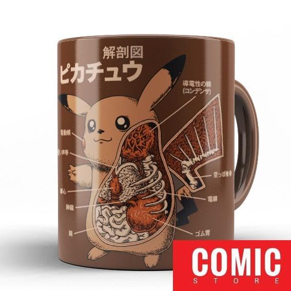 Caneca Marrom Pikachu Anatomy, Caneca Jogos E Games Cod15055 - R$ 39 ...