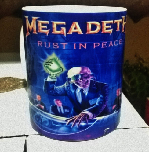 caneca megadeth - rust in peace