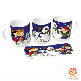 Caneca Natalina Snoopy E Charlie Brown Presente De Natal