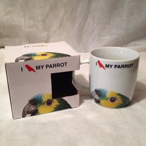 caneca papagaio porcelana 340 ml