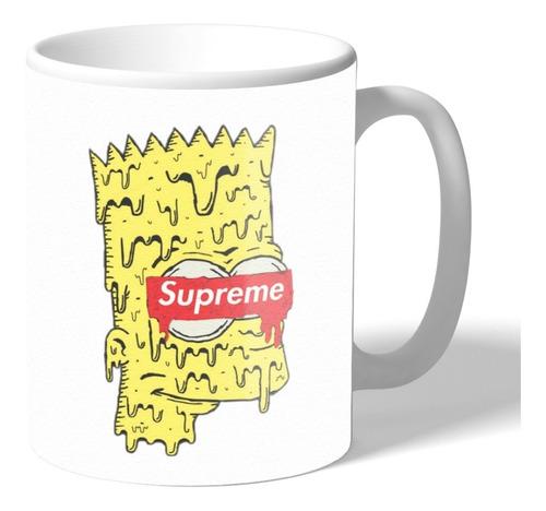 caneca personalizada bart simpson marca supreme