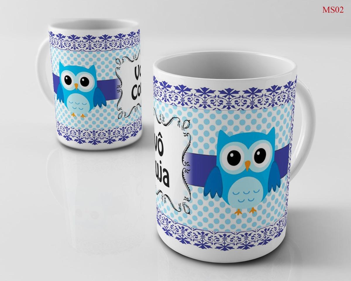 fb1d3a80c caneca personalizada cerâmica família vovô coruja. Carregando zoom.