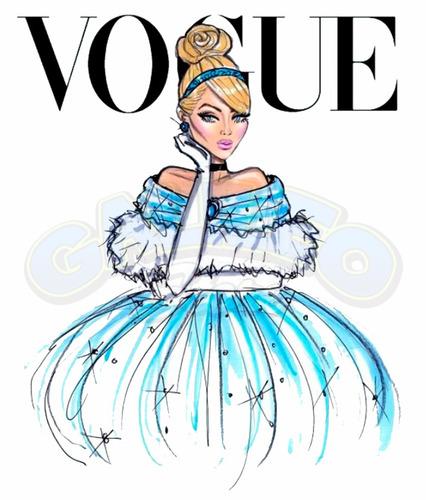 caneca personalizada - princesas disney vogue - cinderela