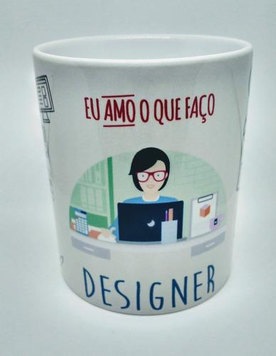 caneca personalizada profissão designer feminino