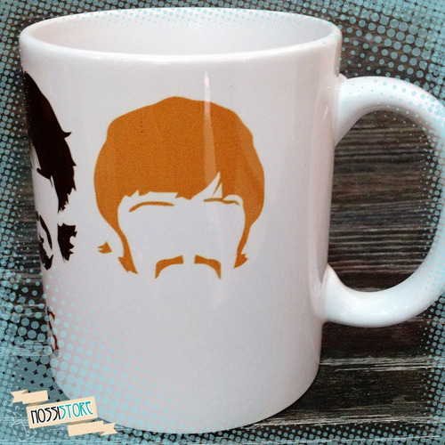 caneca personalizada the beattles