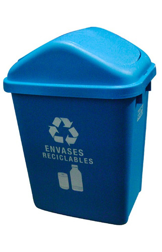 caneca plastica azul 30lt ref: ztl30f-7 envases r. /tapa vai