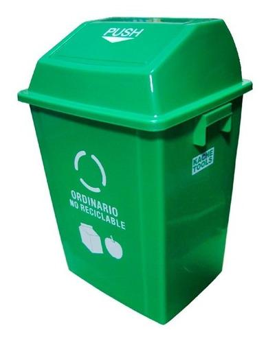 caneca plastica verde 40lt ref: ztl40b-2 ordinario /tapa vai