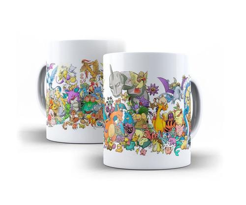 caneca pokemon todos pokemons 2 porcelana 325 ml