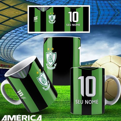 caneca porcelana futebol brasileiro + caixinha