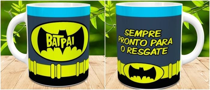 5d965987cd270c Caneca Porcelana Personalizada Batman Batpai Presente Pai