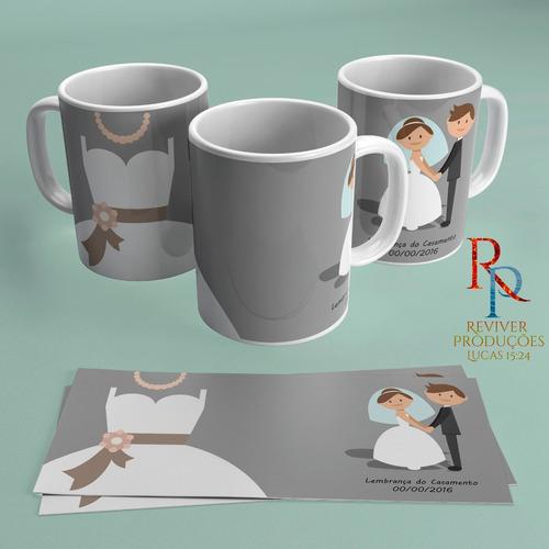 caneca porcelana personalizada casamento padrinhos eventos
