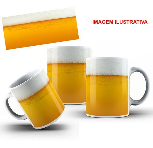 caneca porcelana personalizada cerveja 325 ml + caixinha