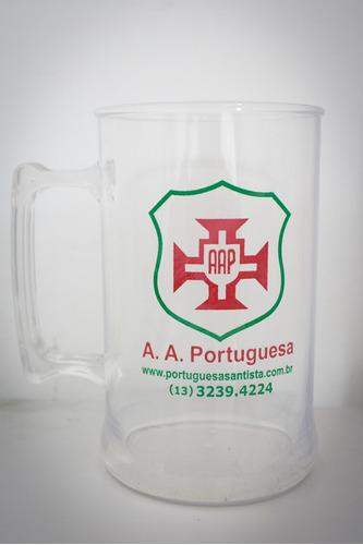 caneca - portuguesa santista - acrílico