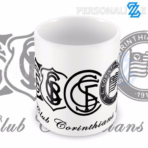 3991a60294 Caneca Presente Evolução Do Escudo Do Corinthians - R  25