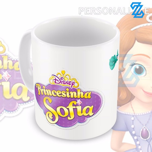 Caneca Princesa Princesinha Sofia Desenho Infantil P1 R 26 99