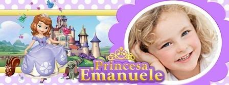 caneca princesa sofia personalizada com foto e nome