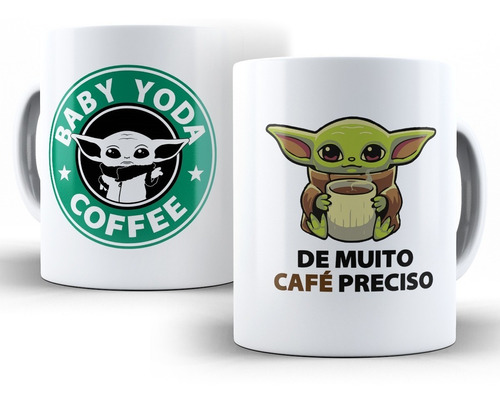caneca star wars baby yoda café
