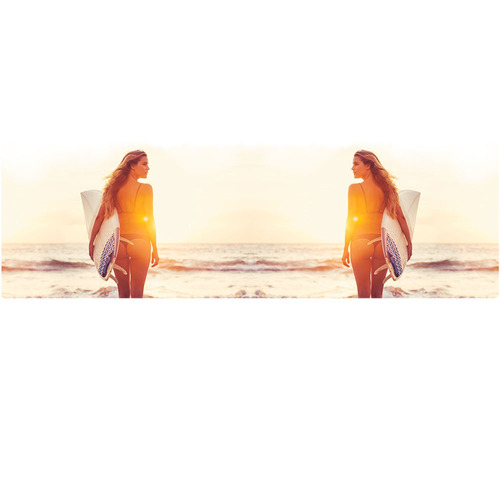 caneca surf girl sunset mirror