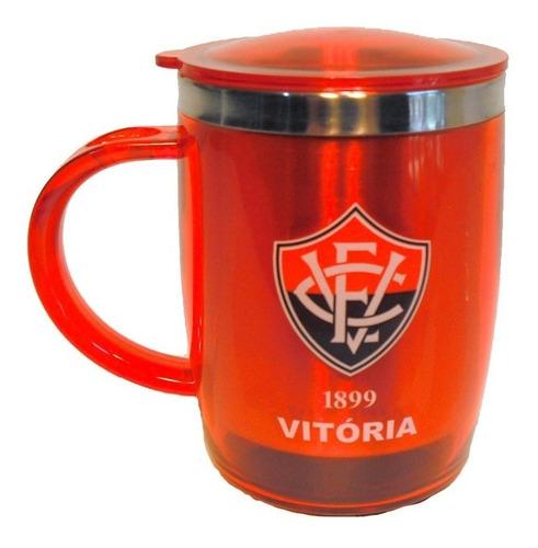 caneca térmica em acrilico vermelha do vitória presentes