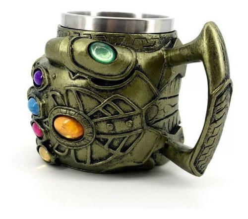 caneca thanos manopla do infinito 3d vingadores geek