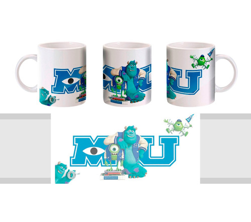 caneca universidade monstros - monsters university - mod. 2
