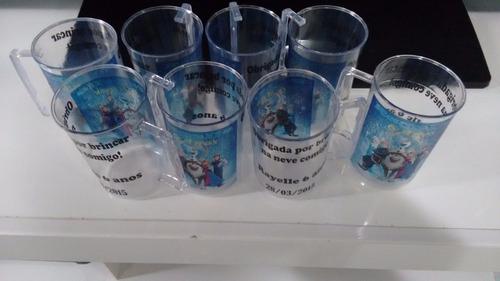 canecas de acrilico personalizadas = 100 pçs