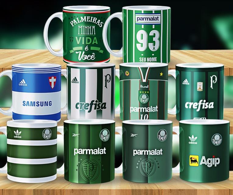 c7c9bb4376 Canecas Palmeiras Personalizada Com Nome - R  27