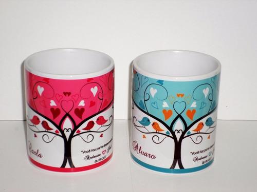 canecas personalizadas padrinhos madrinhas convidados+brinde