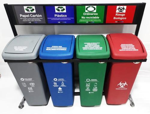 canecas plásticas, puntos ecológicos y carpetas
