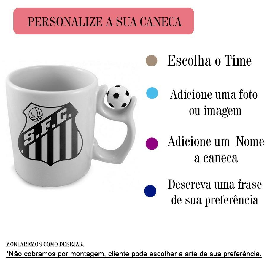 332ef0474d canecas porcelana personalizada alça bolinha times futebol. Carregando zoom.