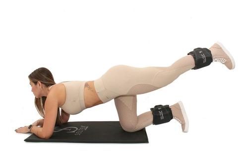 caneleira 4kg tornozeleira de peso academia treino hard