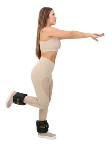caneleira academia peso 2kg tornozeleira para treino 1 par