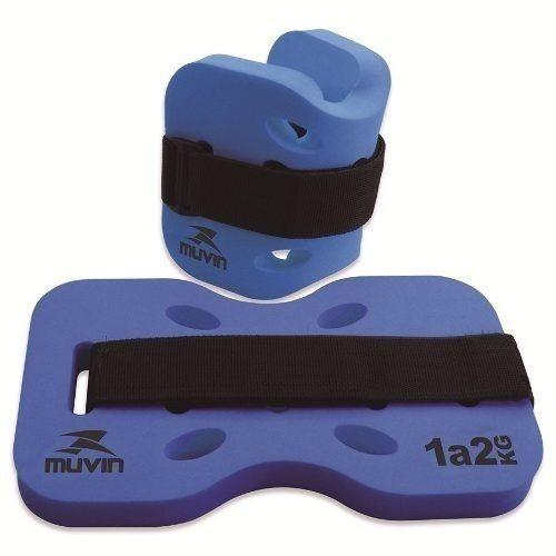 caneleira de peso p/ hidroginástica muvin 1- 2 kg cores dive