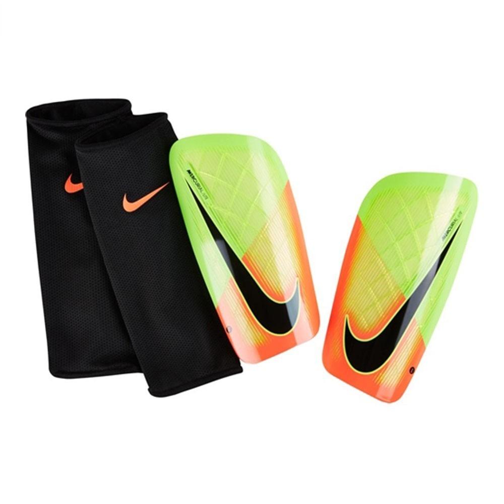 3a500e865c30a Caneleira Nike Mercurial Lite Laranja/verde Limão - R$ 159,90 em ...